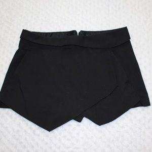 Zara Skort Asymmetrical Black